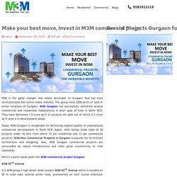 Invest In M3M Commercial Projects Gurgaon