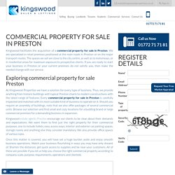 Commercial Property for Sale in Preston - Kingswood Properties