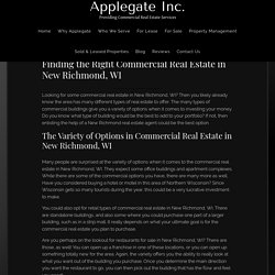 Finding the Right Commercial Real Estate in New Richmond, WI - Applegate Commercial Properties Inc.