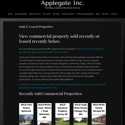 Commercial Property Sold Recently by Applegate Commercial