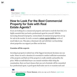 How to Look For the Best Commercial Property for Sale with Real Estate Agents?