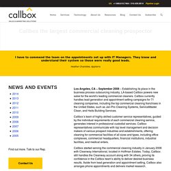 Callbox the largest commercial cleaning prospector - Callboxinc.com - B2B Lead Generation Company