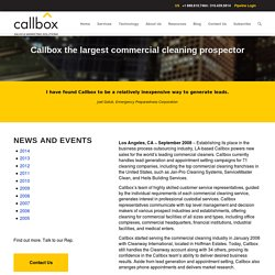 Callbox the largest commercial cleaning prospector