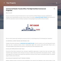 Commercial Realtor Toronto Offers The Right And Best Commercial Properties