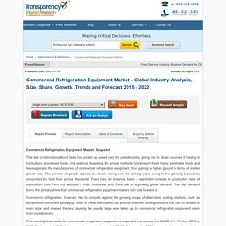 Commercial Refrigeration Equipment Market - Global Industry Analysis, Size, Share, Growth, Trends and Forecast 2015 - 2022