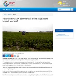 How will new FAA commercial drone regulations impact farmers?