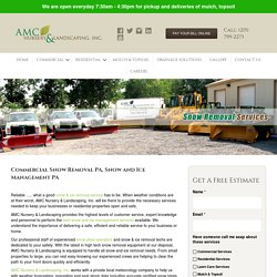 Commercial Snow Removal Souderton PA
