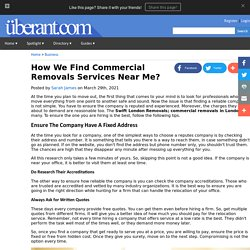 How We Find Commercial Removals Services Near Me?