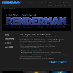Non-Commercial RenderMan - Register