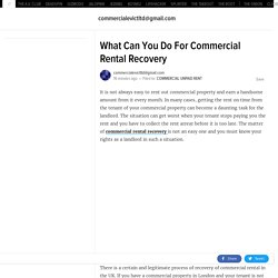 What Can You Do For Commercial Rental Recovery