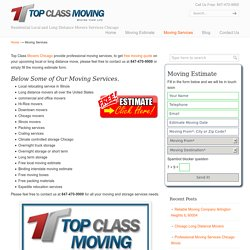 Chicago Moving and Storage Companies- Local Movers Chicago Il