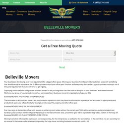 Commercial Office Condo Furniture Movers, Local Residential Apartment Long Distance Cross Country Movers & Moving Company Belleville
