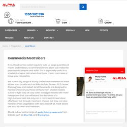 Buy Commercial Meat Slicers - Alpha Catering Equipment
