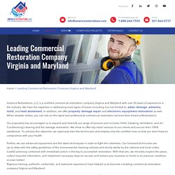 Commercial Restoration Company Virginia and Maryland