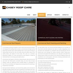 Commercial Roof Repair Melbourne - caseyroofcare.com