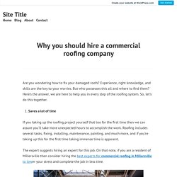 Why you should hire a commercial roofing company – Site Title