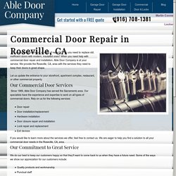 Commercial Doors in Roseville, CA