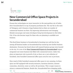 New Commercial Office Space Projects in Secunderabad
