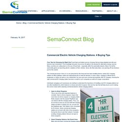 Commercial Electric Vehicle Charging Stations: 4 Buying Tips