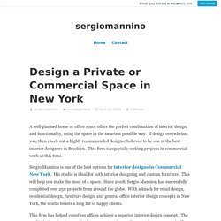 Design a Private or Commercial Space in New York