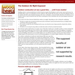 A non-commercial service in support of responsible home heating with wood - The Outdoor Air Myth Exposed