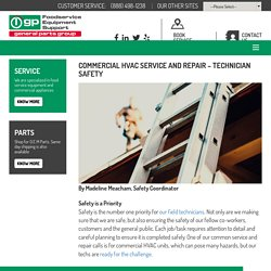 Commercial HVAC Service and Repair – Technician Safety