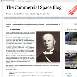 The Commercial Space Blog: Rocket Spaceflight Accurately Described by Scottish-Canadian Scientist in 1861