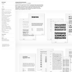 Commercial Type specimens -- Abi Huynh