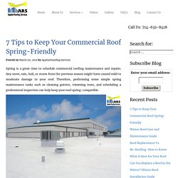 7 Tips to Keep Your Commercial Roof Spring-Friendly
