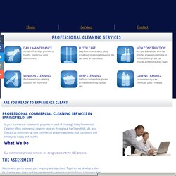Commercial Janitorial Services Offered in Springfield, MA