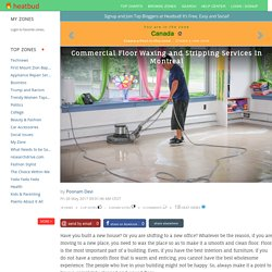 Commercial Floor Waxing and Stripping Services In Montreal