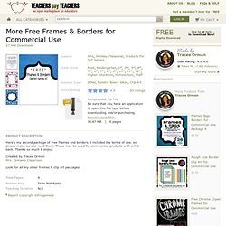 More Free Frames Borders for Commercial Use - Tracee Orman