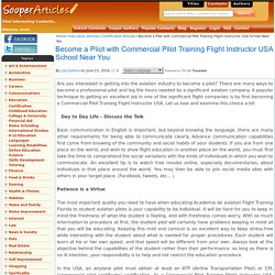 Become a Pilot with Commercial Pilot Training Flight Instructor USA School Near You