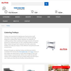 Commercial & Food Transport Catering Trolleys by Alpha Catering Equipment