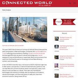 Commercial Vehicles Get Connected - Connected World
