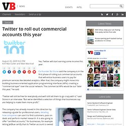 Twitter to roll out commercial accounts this year
