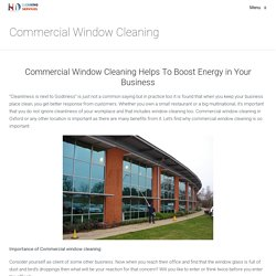Commercial Window Cleaning – HD Clean