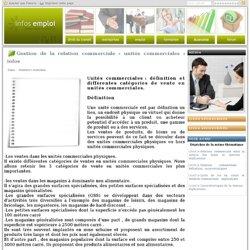 Gestion de la relation commerciale - unités commerciales : infos