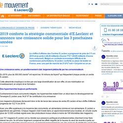 Document 10 : part de mart et stratégie commerciale d'E.Leclerc