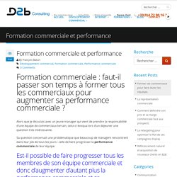 Formation commerciale : comment augmenter sa performance