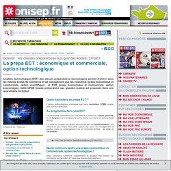 La prépa ECT : économique et commerciale, option technologique