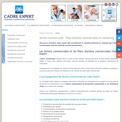 Plan actions commerciales - Conseil commercial Cadre Expert