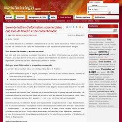 Envoi de lettres d'information commerciales : question de finalité et de consentement