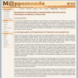 Dynamiques commerciales et patrimoniales dans les centres historiques (Le Marais, le Vieux Lille)