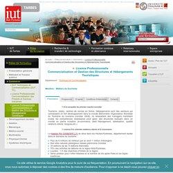 IUT de TARBES - Licence Professionnelle Commercialisation et Gestion des Structures et Hébergements Touristiques