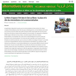 La filière d'oignon d'été dans le Saïs au Maroc : la place et le rôle des intermédiaires de la commercialisation