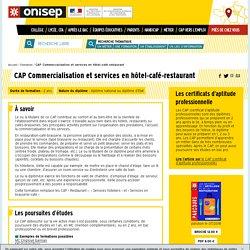 CAP Commercialisation et services en hôtel-café-restaurant