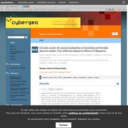 CYBERGEO - 2020 - Circuits courts de commercialisation et transition territoriale dans les Andes. Une réflexion depuis le Pérou et l'Équateur