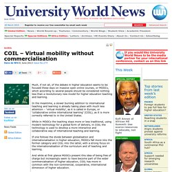 COIL – Virtual mobility without commercialisation