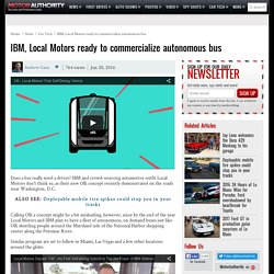 IBM, Local Motors ready to commercialize autonomous bus